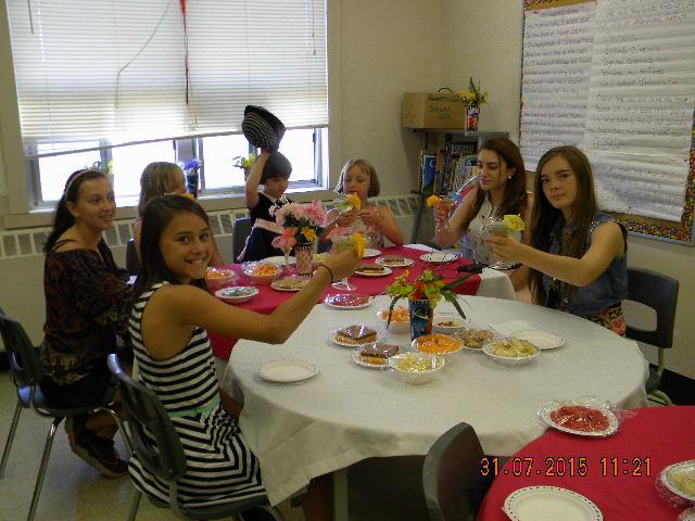 Irish lunch with youth in Sudbury