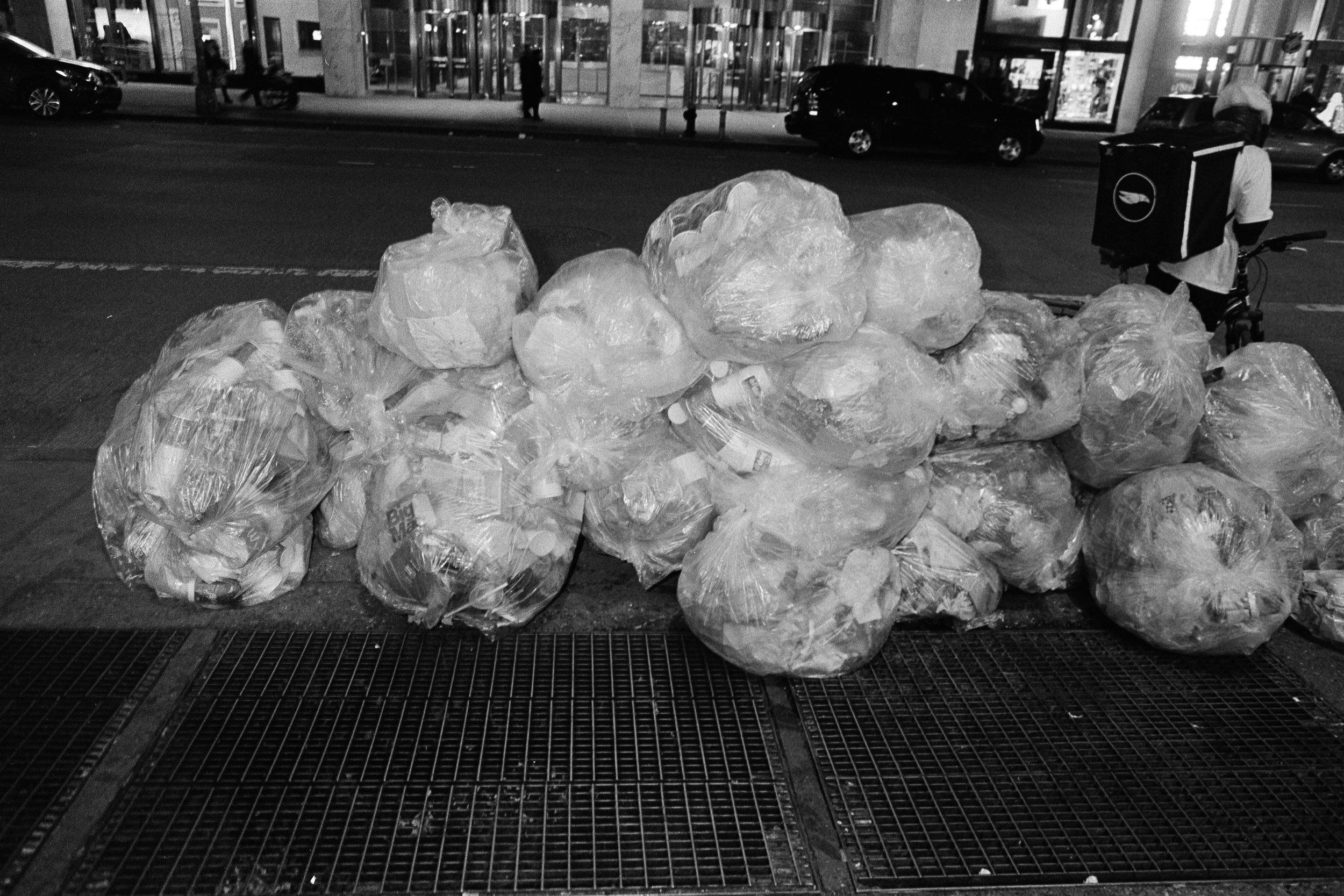 One day trash from a McDonald's store in Time Square