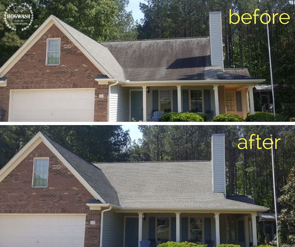 Roof CLEANING - No pressure roof cleaning using our SOFT WASH system will provide instant results and help maximize the lifespan of your roof.