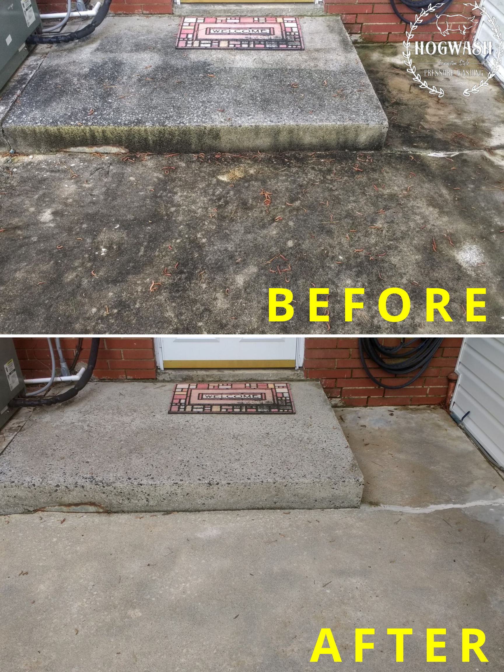 Concrete patio cleaning in Salisbury, NC