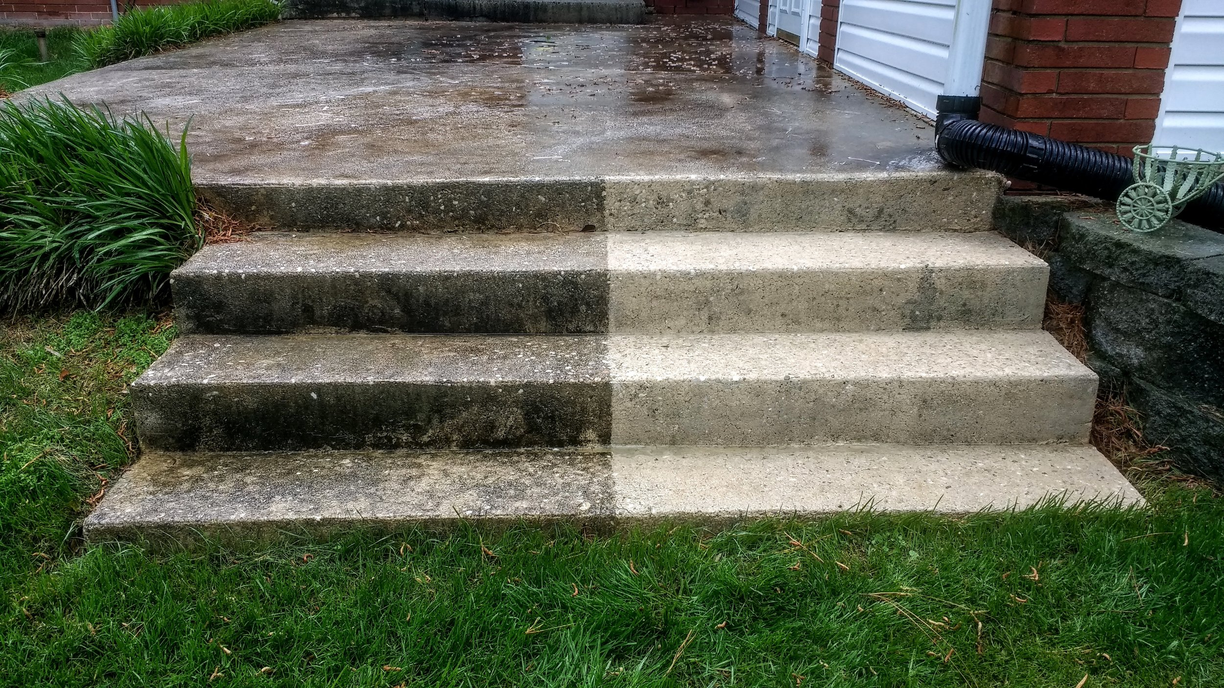 concrete step cleaning in Salisbury, NC
