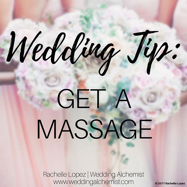 One thing we always recommend our brides to do the week of their wedding is to find time to get a massage. The week of your wedding can be incredibly stressful so find an hour whether with your fiance, sister, or best friend to get a massage. You'll leave feeling relaxed and rejuvenated and ready to tackle the last-minute details that'll pop up.💆‍♀️💆‍♂️😊 • • #weddingalchemist #weddingalchemisttips #thingscoachessay #coachinglife #coachingtip #coachingtips #weddingtips #weddingtip #womeninbusiness #womenentrepreneurship #iloveyou #bride #groom #weddings #wedding #springwedding #springtime #spring #mayflowers #weddingseason #aprilwedding #massage #getamassage #relaxation #relaxationtime #weddingplanning #rejuvenate