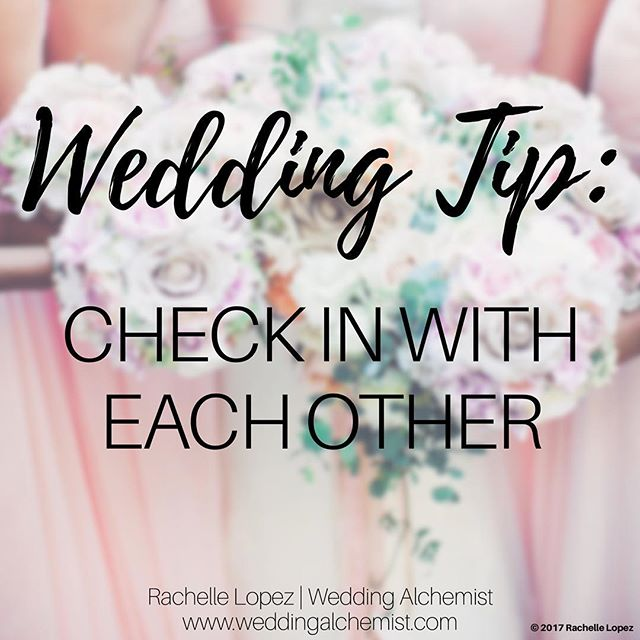Your wedding day will be one of the busiest days in your life. Take moments throughout the day to check-in with your significant other. Little check-in's are a great way to stay connected in a day where everyone wants your attention.☺️ • • #weddingalchemist #weddingalchemisttips #thingscoachessay #coachinglife #coachingtip #coachingtips #weddingtips #weddingtip #womeninbusiness #womenentrepreneurship #iloveyou #bride #groom #weddings #wedding #springwedding #springtime #spring #mayflowers #weddingseason #aprilwedding #checkin #significantother #stayconnected #weddingday #weddingdayvibes #together
