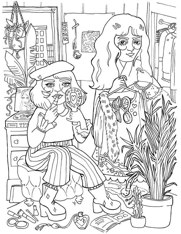 Illustration for Imnorotter Coloring Book Issue #2