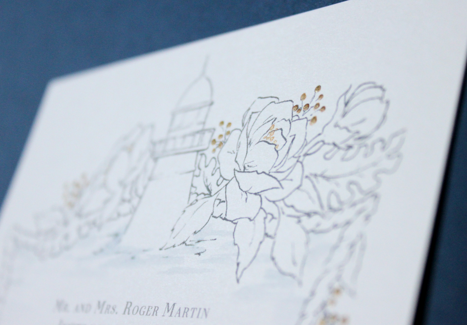 Lake Erie Wedding Invitations in Gold Foil. Blushed Design, Wedding invitations and Fine Art Portraits