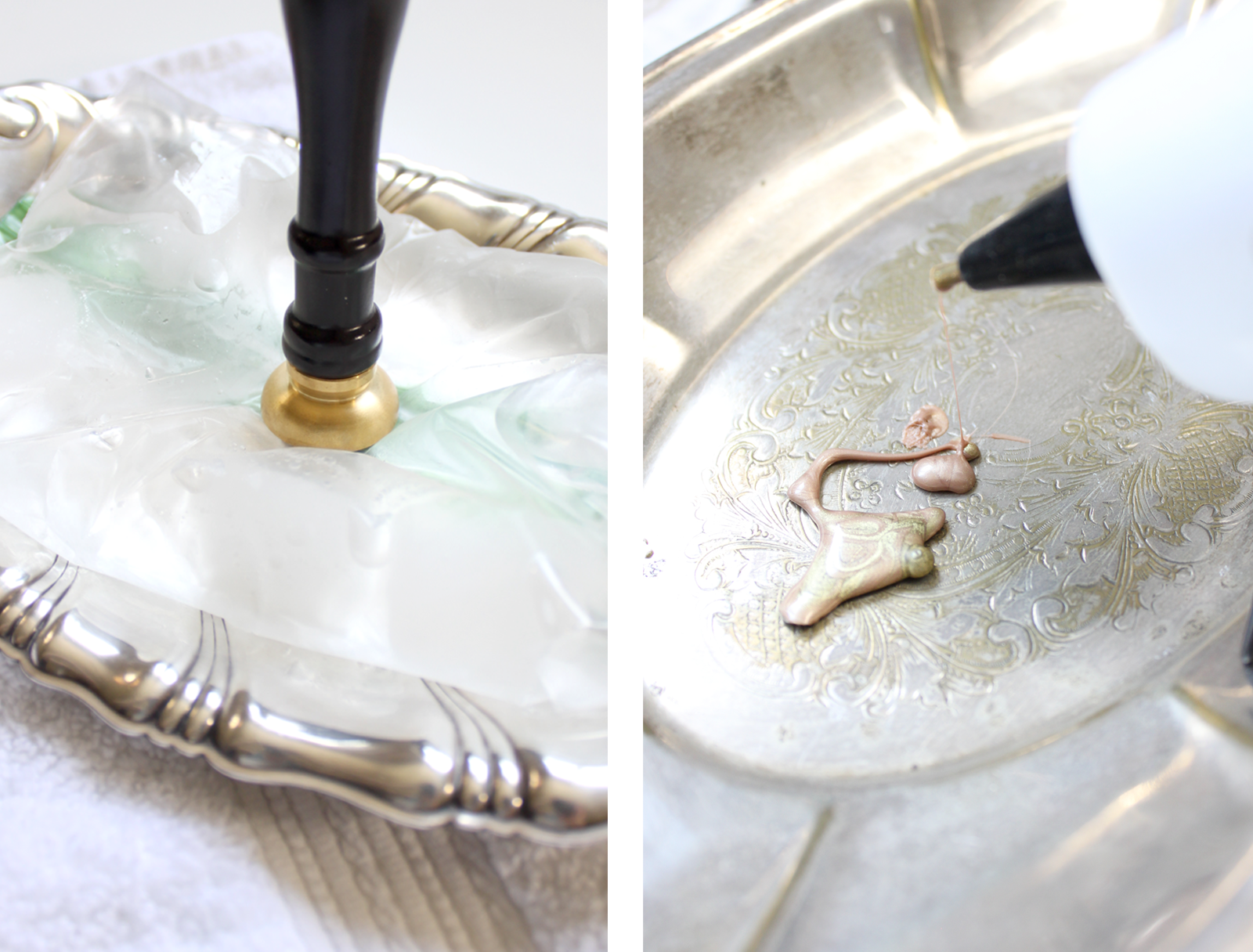 How to use wax seals: Use ice to chill your seal before applying it to the hot wax! Find out more tips and tricks for wax seals in this blog post by professional stationer, Katrina Crouch.  Blushed Design, Wedding Invitations and Fine Art Portraits