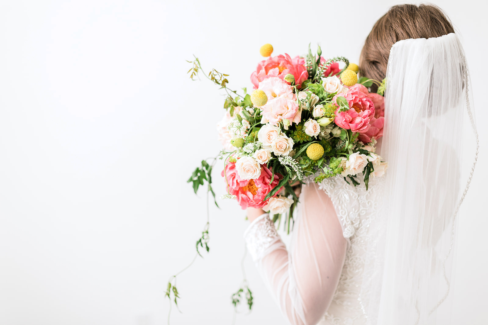 Fine Art Bridal Shoot with a bold, colorful bouquet