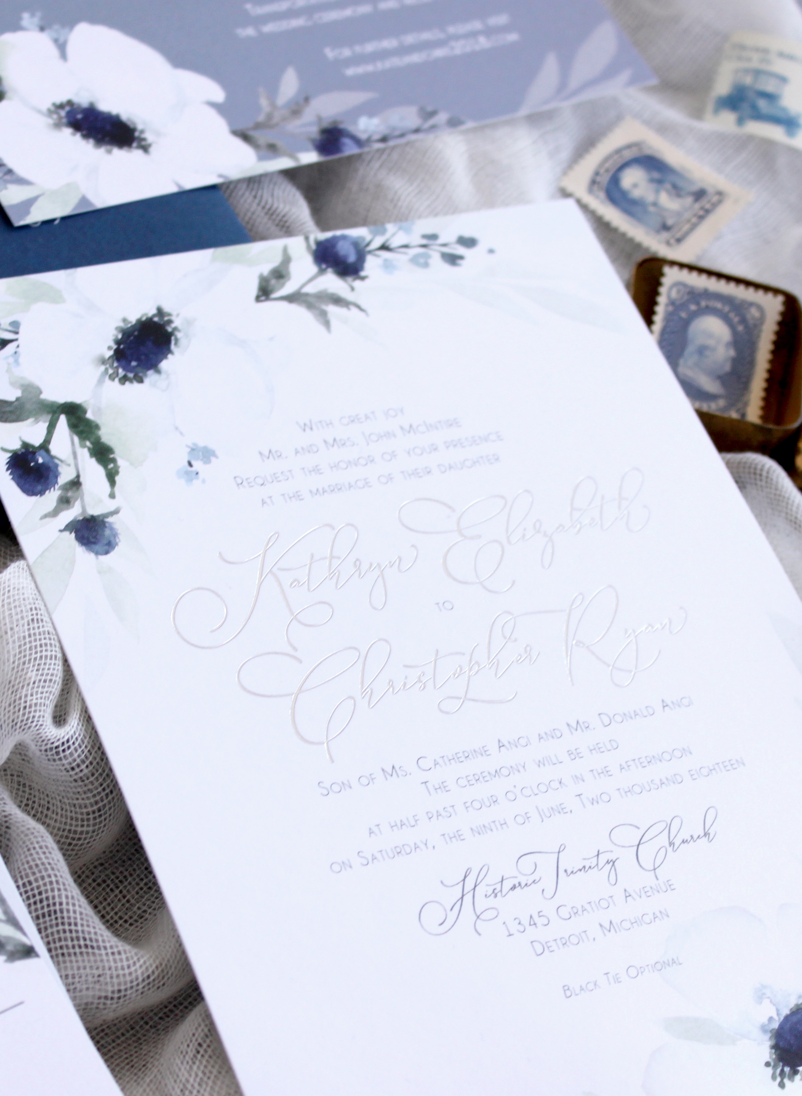 Wedding Invitation Printing Methods - Silver foil wedding invitation calligraphy design by Blushed Design: Fine Art Wedding Invitations and Portraits. #weddinginvitations #fineartweddings #fineartweddinginspiration #weddinginspiration #silverfoilinvitations