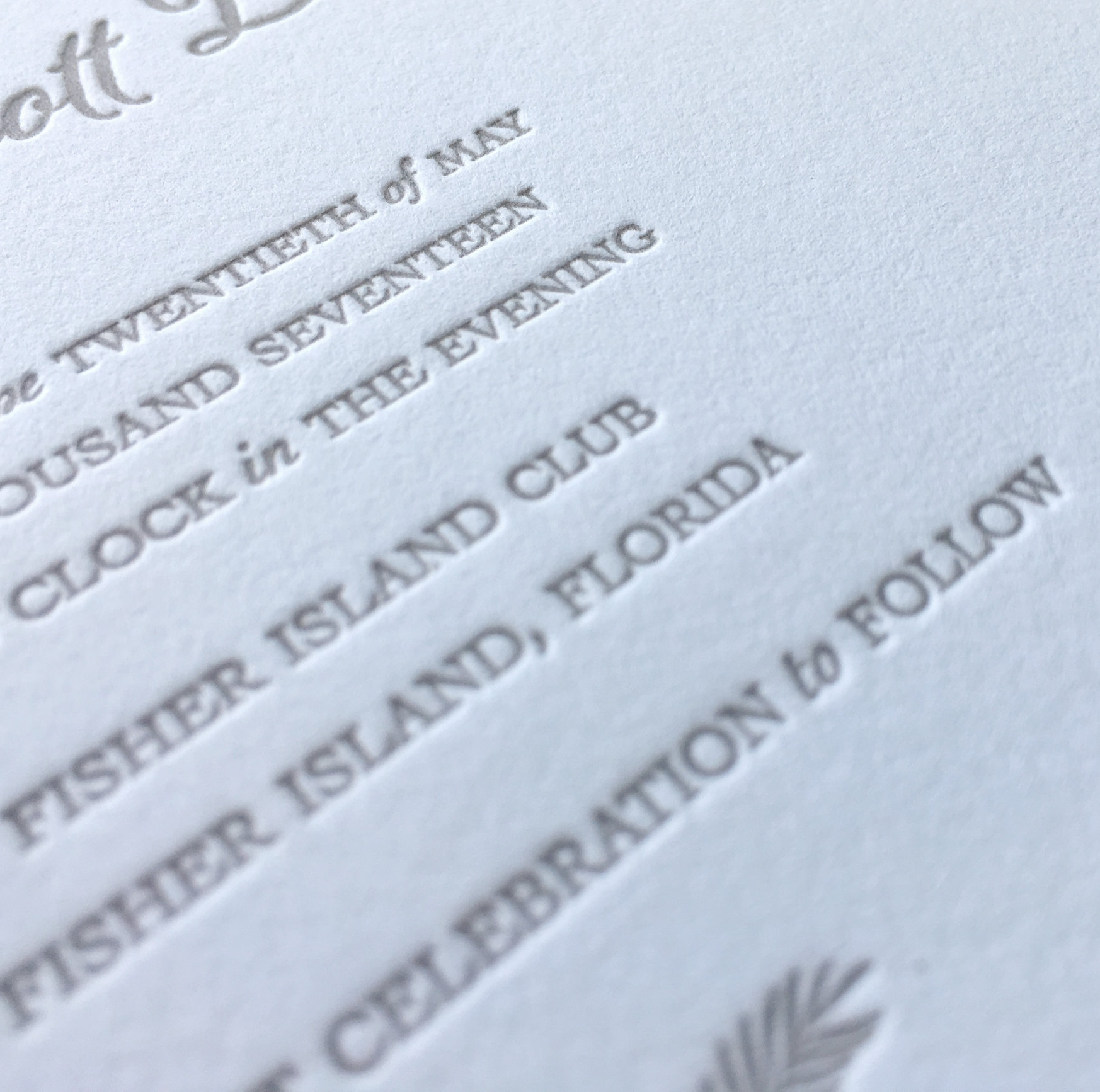Printing Methods for wedding stationery - Letter press wedding invitations