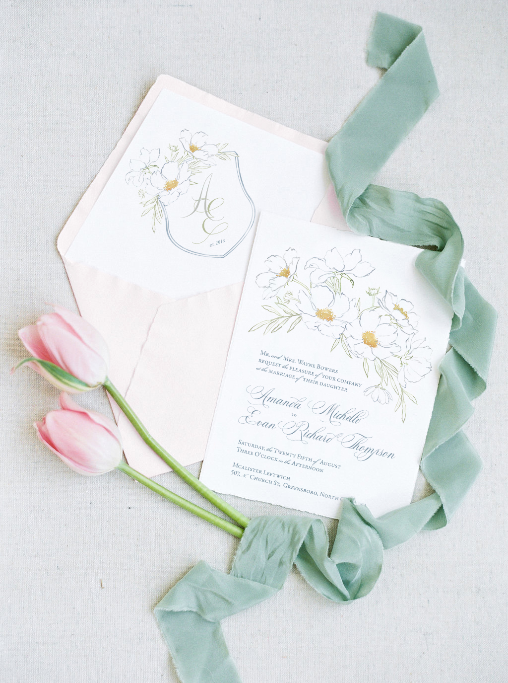 Fine Art Wedding Invitations Delicate