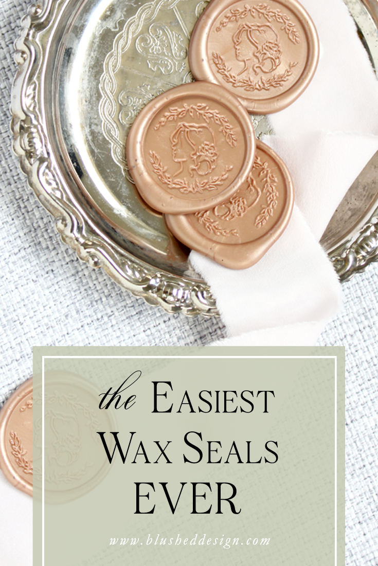 The easiest wax seals ever! Find out which easy wax seals to use for your project by following professional stationer, Katrina's step by step guide.  Blushed Design: Fine art inspired design with a fresh twist  #waxseals #weddinginvitations #waxseal