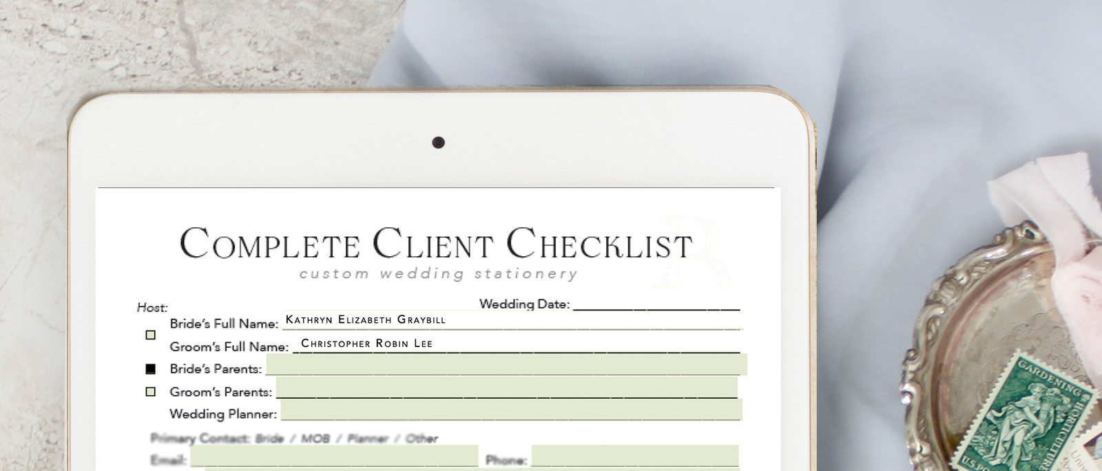 """Are you sick of digging through old Emails or your contract for the miscellaneous information about this or that client?  And don't get me started on Customer Relationship Management (CRM)!  I was so frustrated… until I created this little cheat sheet, that it!  Now it's my """"secret weapon"""" to handling """"all-of-the-things"""".  Find out what's inside and how to get yours <3"""