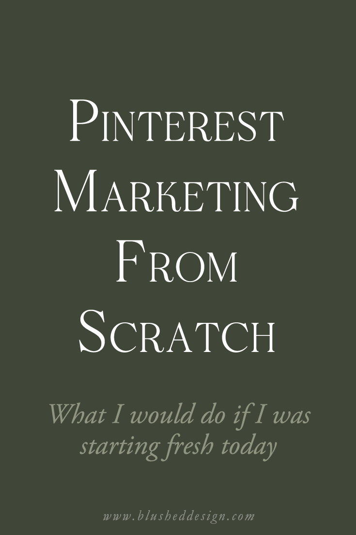 I've been using Pinterest to market my business for a while, but there are definately things that I would do differently if I started today.  Read all about pinterest marketing 101 it in my latest blog post! www.blusheddesign.com #pinterestmarketing #pinterestbusiness #pinteresttips
