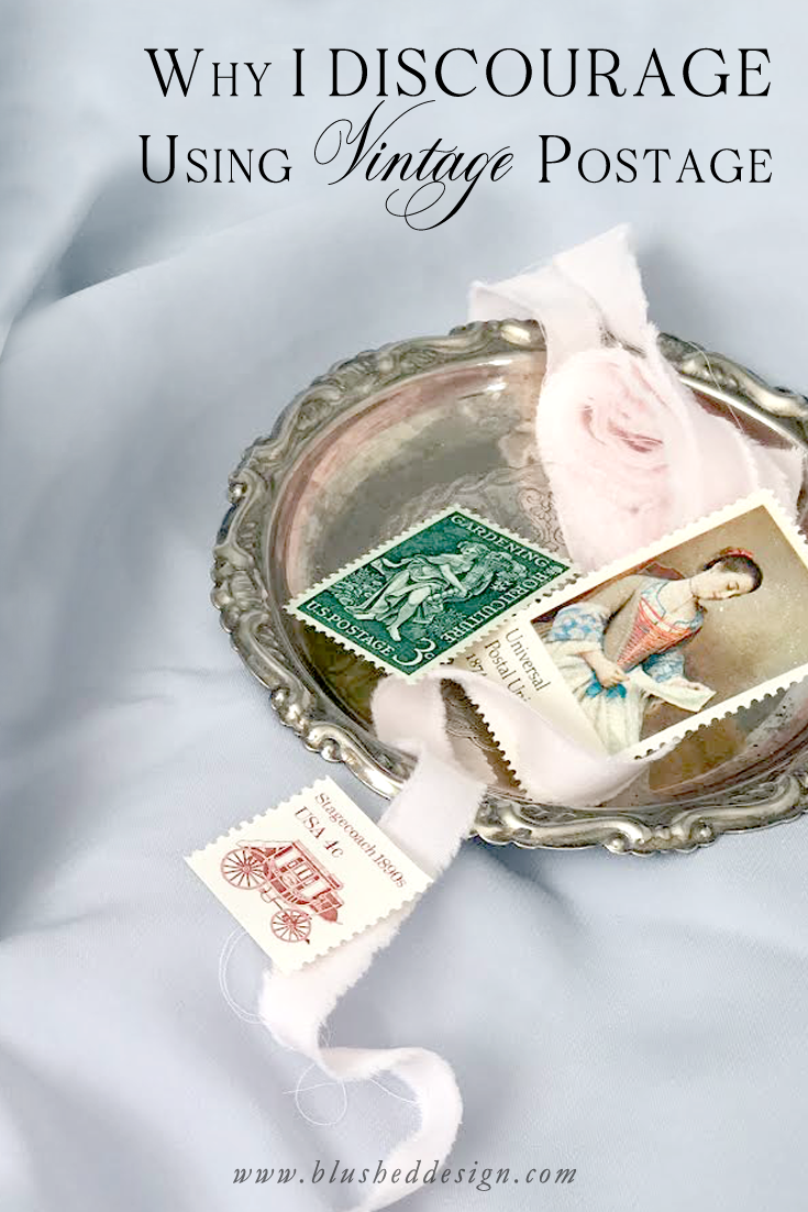Vintage postage is such a popular aspect in the wedding stationery industry, but I actually discourage it for my own brides! Find out why I (as a professoinal stationer) guide my brides towards alternatives to vintage postage on their wedding stationery. www.blusheddesign.com #vintagepostage #fineartwedding #weddinginspriation #stationerydesigner