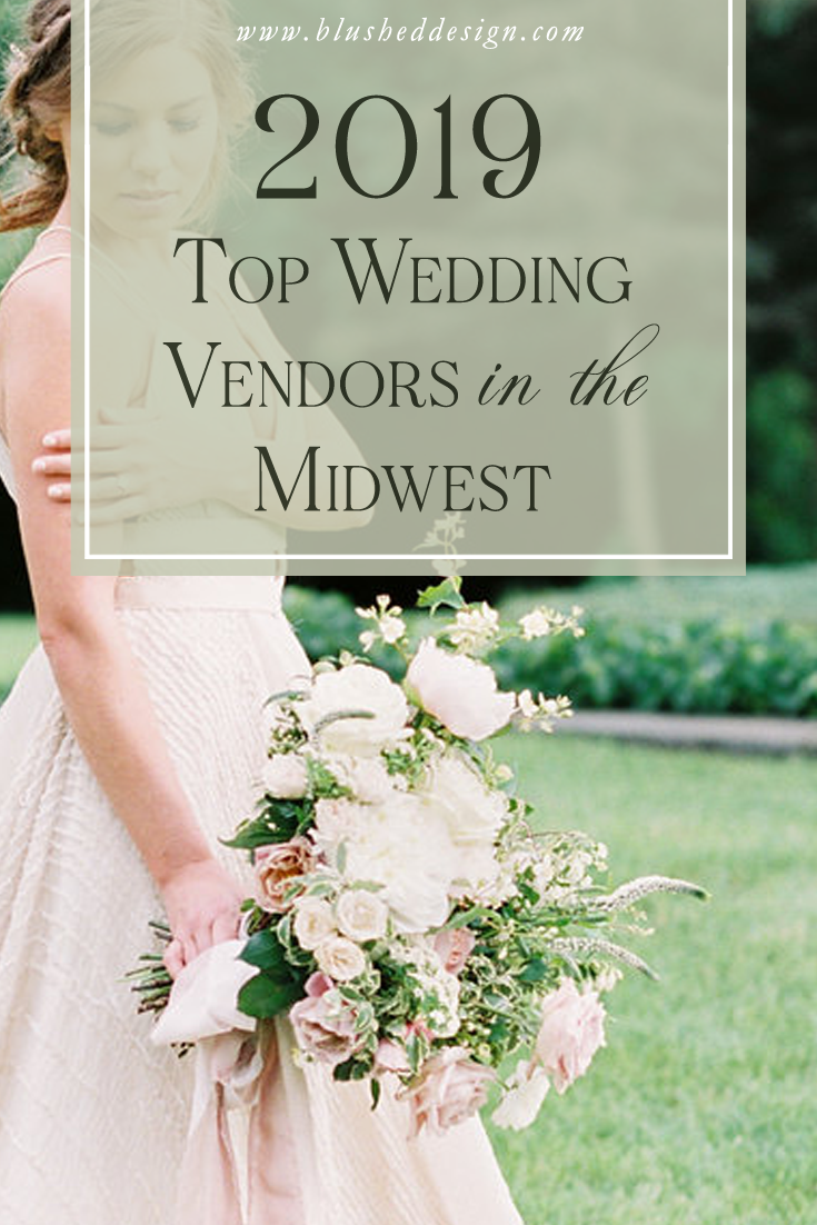 The best Wedding Vendors in the Midwest!  A complete list of wedding planners, photographers, midwest venues, invitations and makeup artists! || Blushed Design: Find art inspired design with a fresh twist