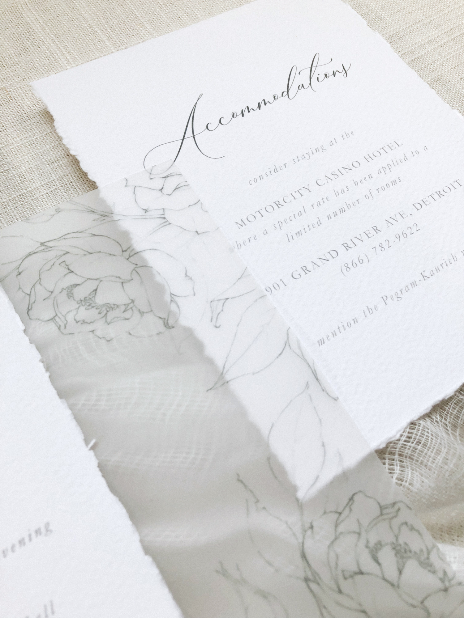 Vellum overlays or bellyband are a great way to customize and add personality to your wedding invitations! Find details about vellum wedding invitaitons along with other great ideas about how to add personality to your wedding invitations in this blog post! #weddinginvitations #vellumweddinginvitations #whimsicalwedding #modernwedding #fineartwedding