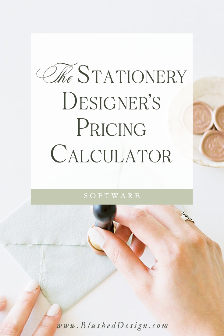 Use my tested and true pricing guide to quickly find out what you should be charging for every bride that comes your way! Everything from wholesale costs of goods to calligraphy envelopes to adding in your designer's fee!  Pricing as a wedding stationery professional has never been easier! #weddingstationery #weddingbusiness #smallbusiness
