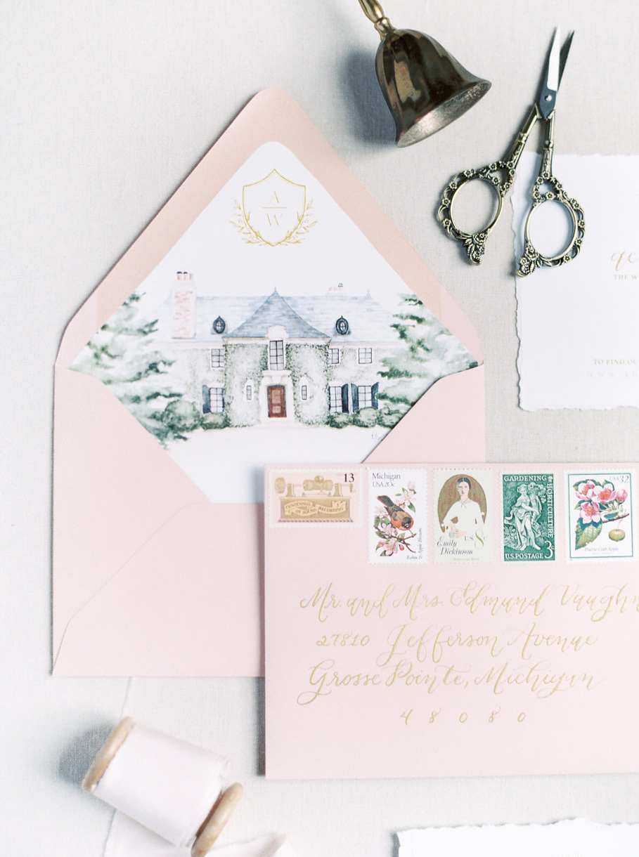 A+beautiful+watercolor+wedding+venue+illustration+highlights+your+wedding+venue+and+your+stationery+at+the+same+time%21++A+bold+envelope+liner+pairs+beautifully+with+this+hand+illustrated+wedding+stationery+suite.jpg