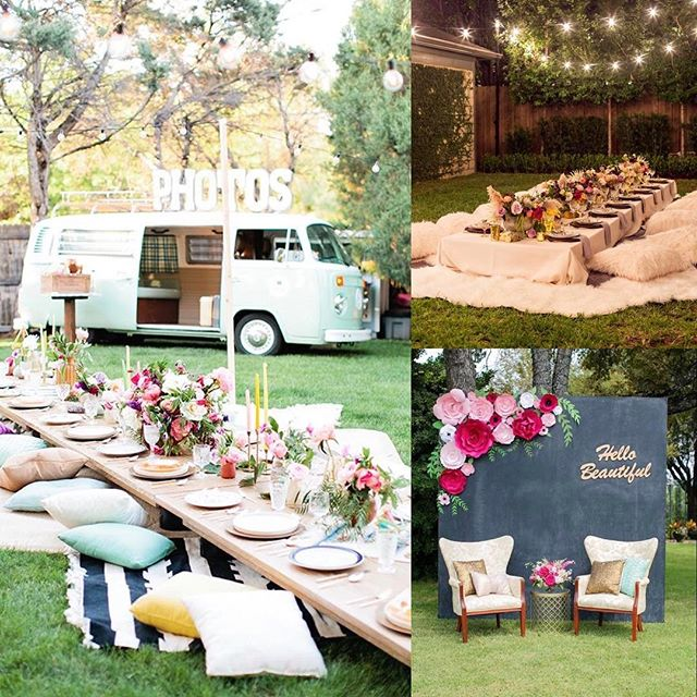 When there is an opportunity to help our clients plan a special event, we jump on it! Here is our inspiration for a very special Sweet 16 this weekend! We can't wait to share the finished product with all of you! #HappyBirthday #SweetSixteen #SpecialDay #PartyTime #OutdoorMovieNight #LowPicnicTable #PillowsandBlankets #OhMy #FlowersGalore