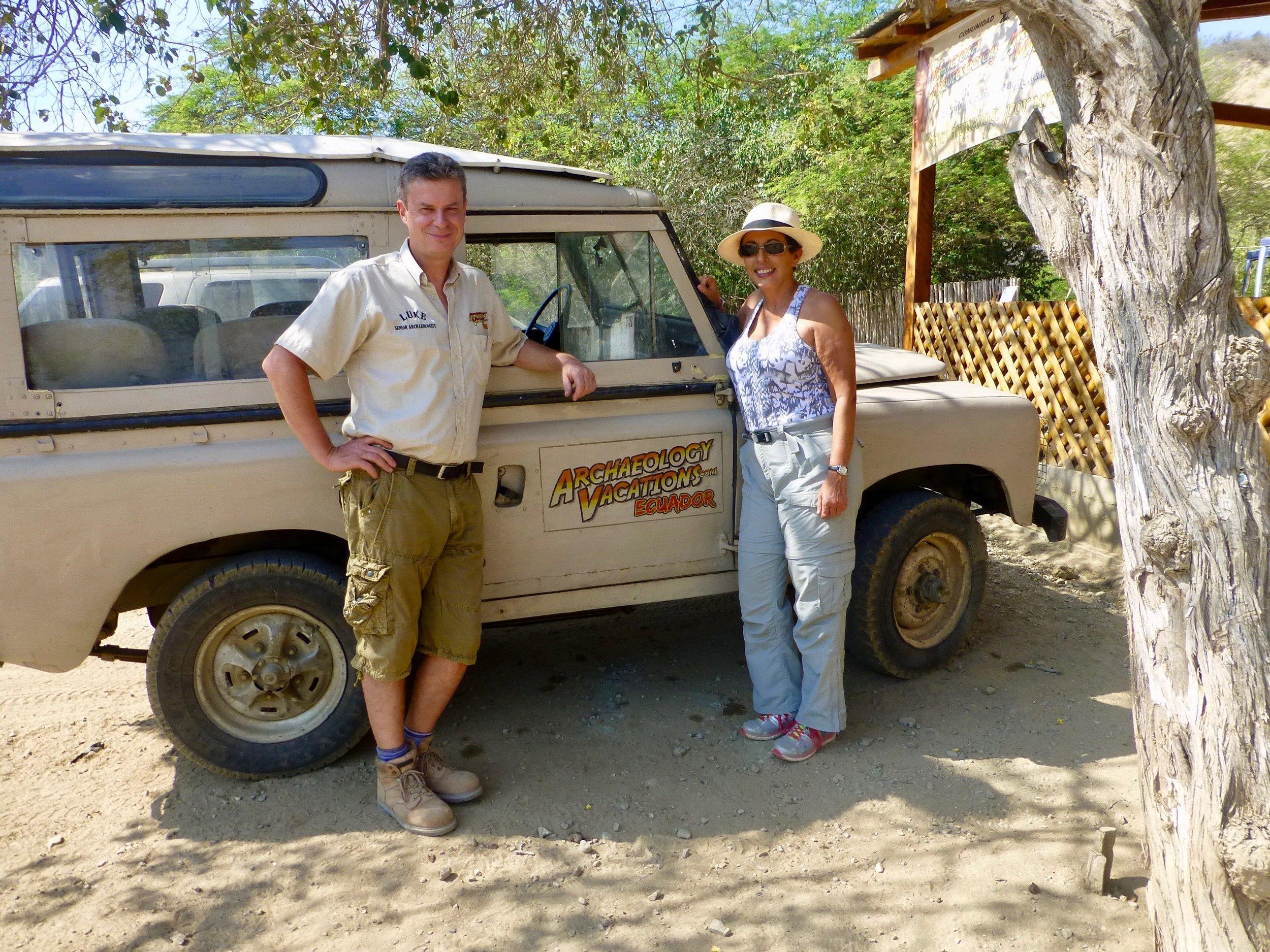 Chief Archeologist Luke Dalla Bona and Alicia Rodriguez