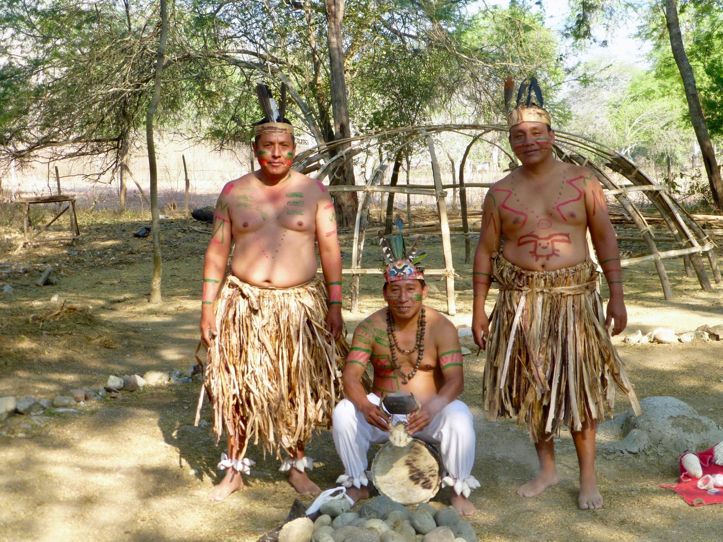 Three Agua Blanca Shamans