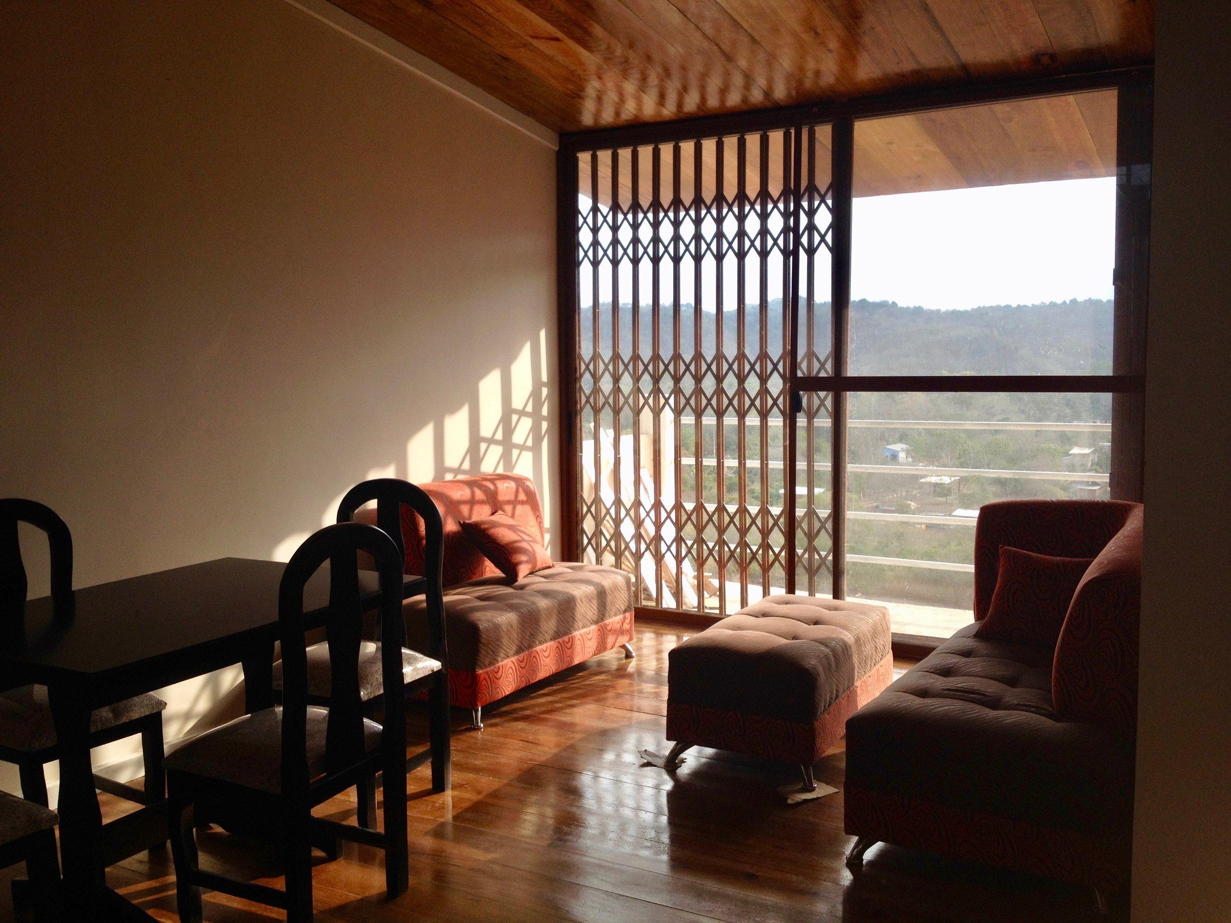 Living area opens to balcony C1