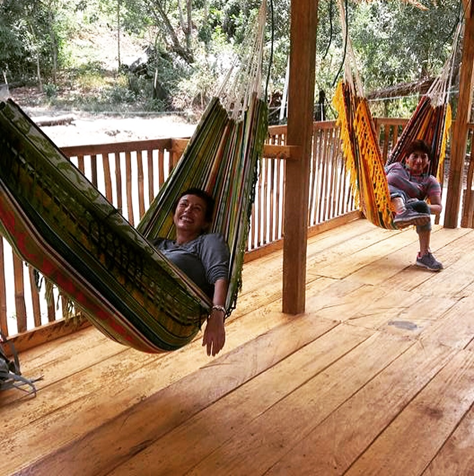 Nothing like a little hammock time after a great meal!