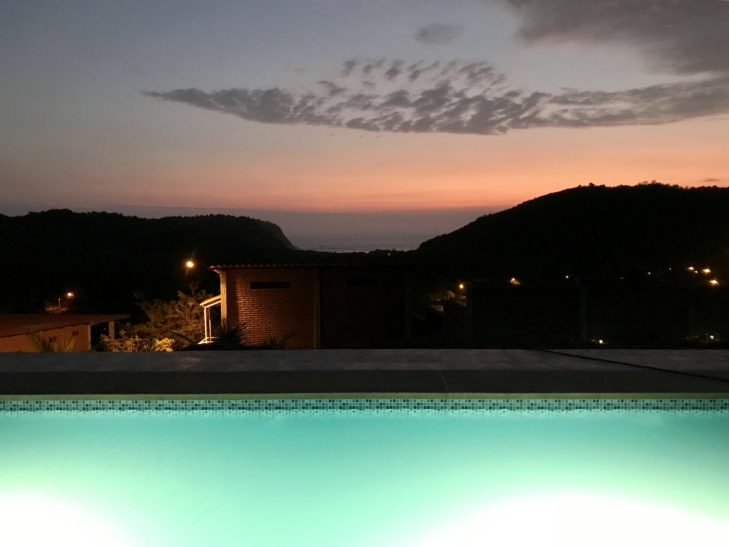 UPPER TERRACE POOLSIDE AT SUNSET