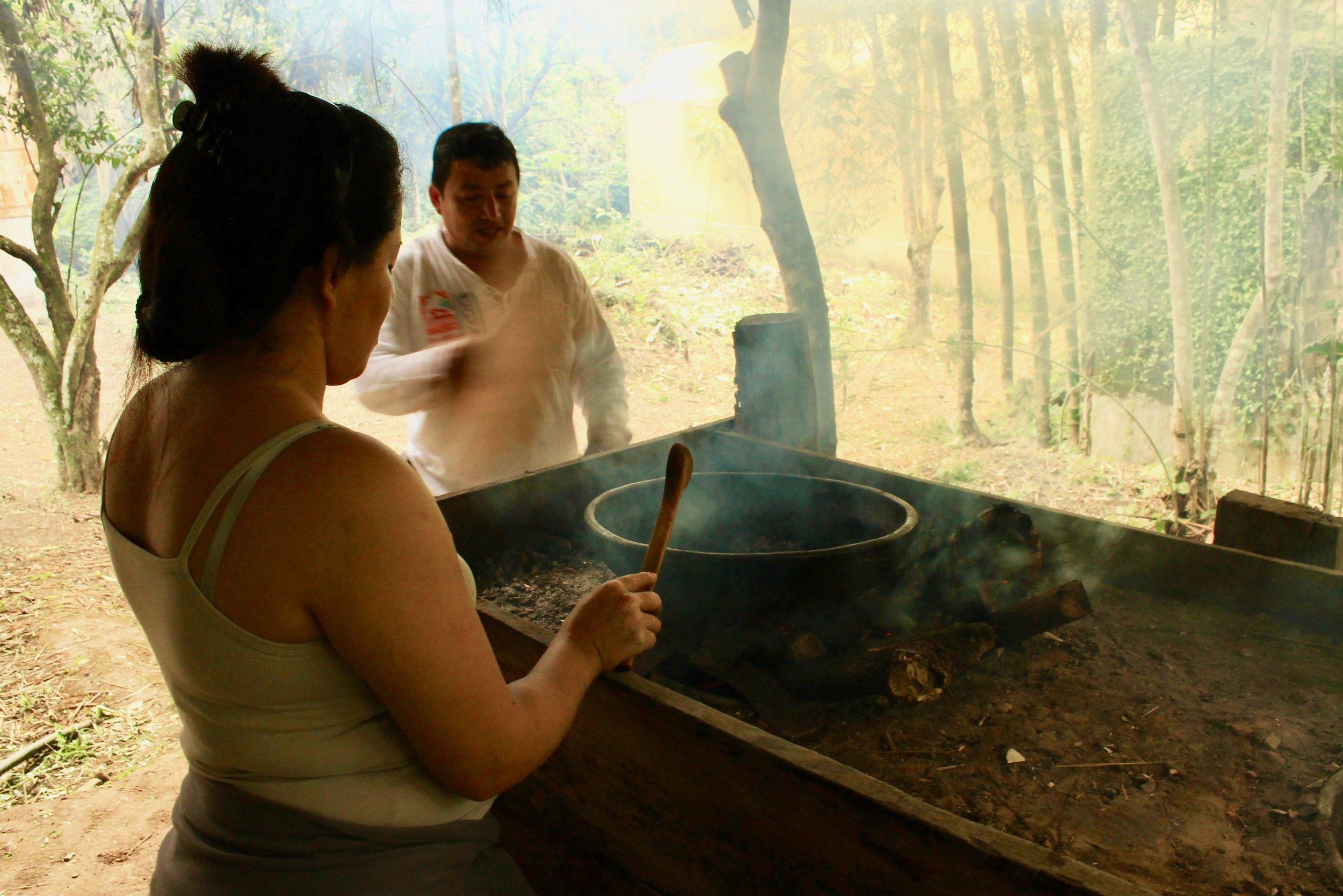 Benito and Diana at Pomarrosa