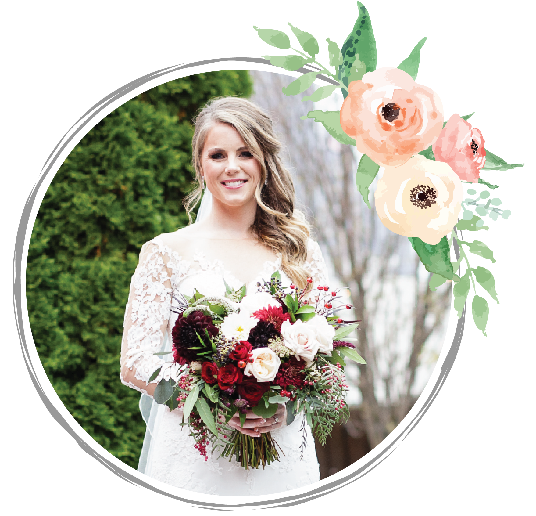 """Andrea is absolutely amazing! - The floral design for my wedding was perfect and exactly what I was looking for. Andrea was so easy to work with, she walked through the venue with my mom and I helping us visualize the options that were available. I have received endless compliments about the flowers, many saying they were the best wedding flowers they have ever seen. We had no problem at the end of the night giving the centerpieces away to our guests so they could take home and enjoy. Thank you, thank you, thank you Andrea for capturing exactly what I was looking for!!""- Alli, Mavris Arts & Event Center, Downtown Indianapolis"