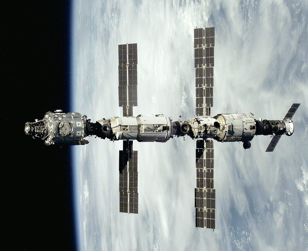 A Progress with the early International Space Station as seen from the crew of a space shuttle. Photo Credit: NASA