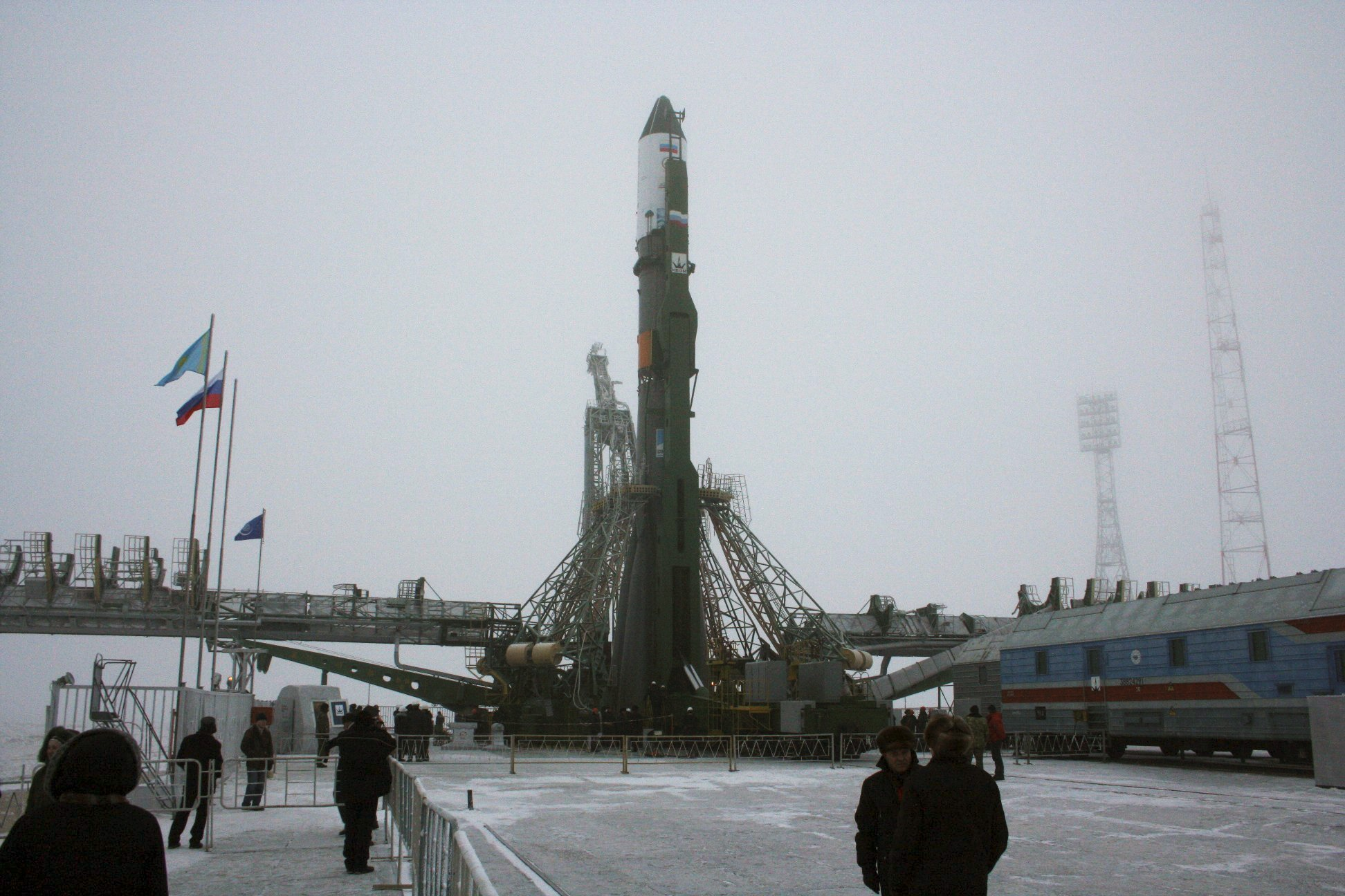 A Progress awaits launch at Baikonur Cosmodrome in Kazakhstan. Photo Credit: NASA