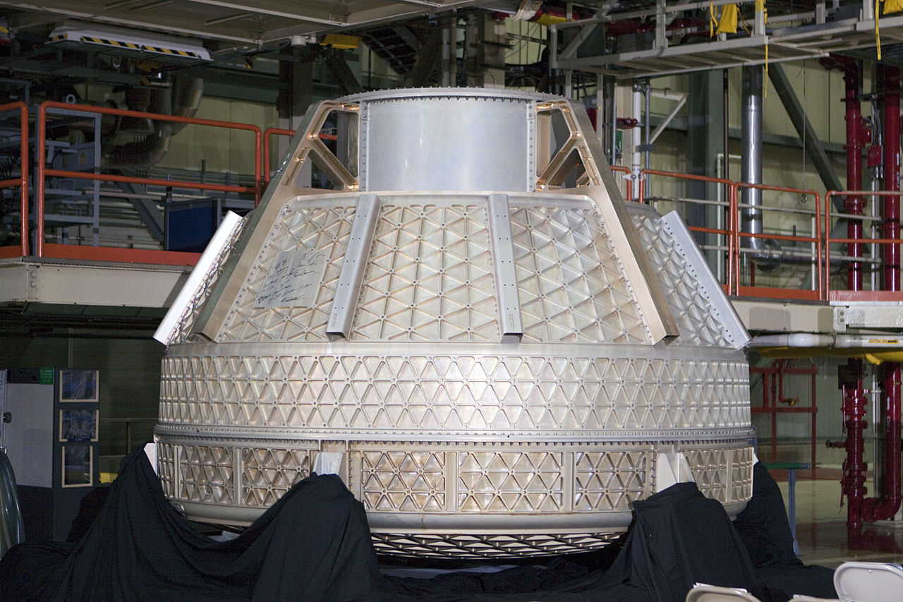 The pressure vessel of a CST-100 Starliner. Photo Credit: Boeing