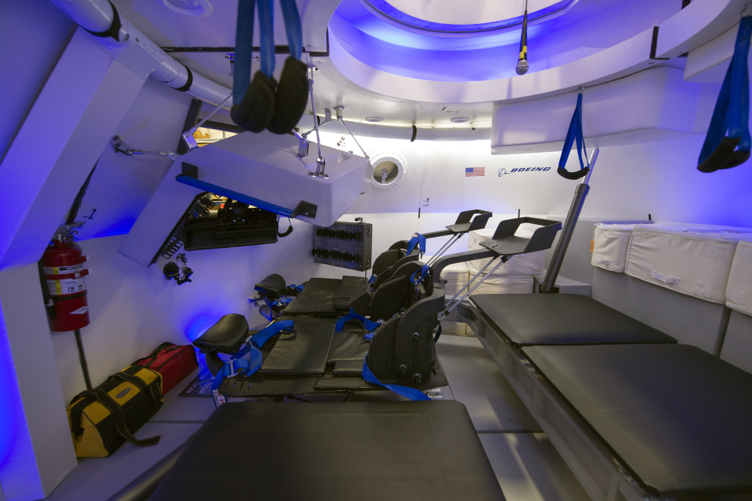 The interior of the CST-100 Starliner. Photo Credit: Boeing
