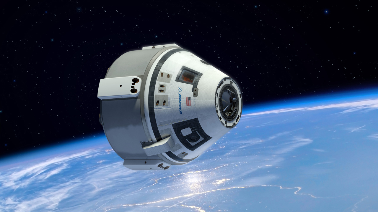 An artist's rendering of a CST-100 Starliner in space. Image Credit: Boeing