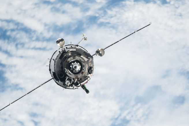 An archive photo of Soyuz TMA-20M arriving at the outpost 172 days ago. Photo Credit: NASA