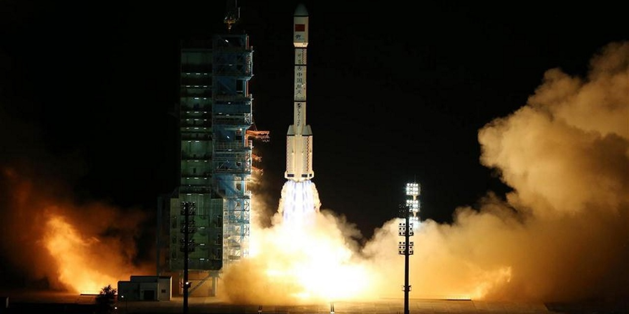 Tiangong 2 was placed into orbit via China's Long March 2F rocket. Liftoff occurred at 10:04 p.m. local time (14:04 GMT; 10:04 a.m. EDT) from Launch Area 4 at the Jiuquan Satellite Launch Center. Photo Credit: Xinhua