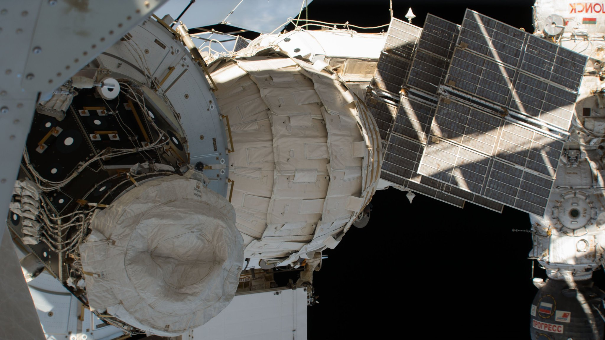 The Bigelow Aerospace Activity Module as seen from the exterior of the station. Photo Credit: NASA