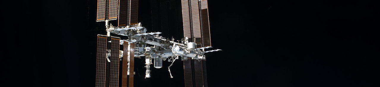 The ISS as seen by the crew of STS-135. Photo Credit: NASA