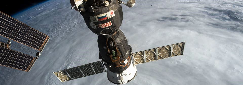 A Soyuz spacecraft docked with the International Space Station. Photo Credit: NASA