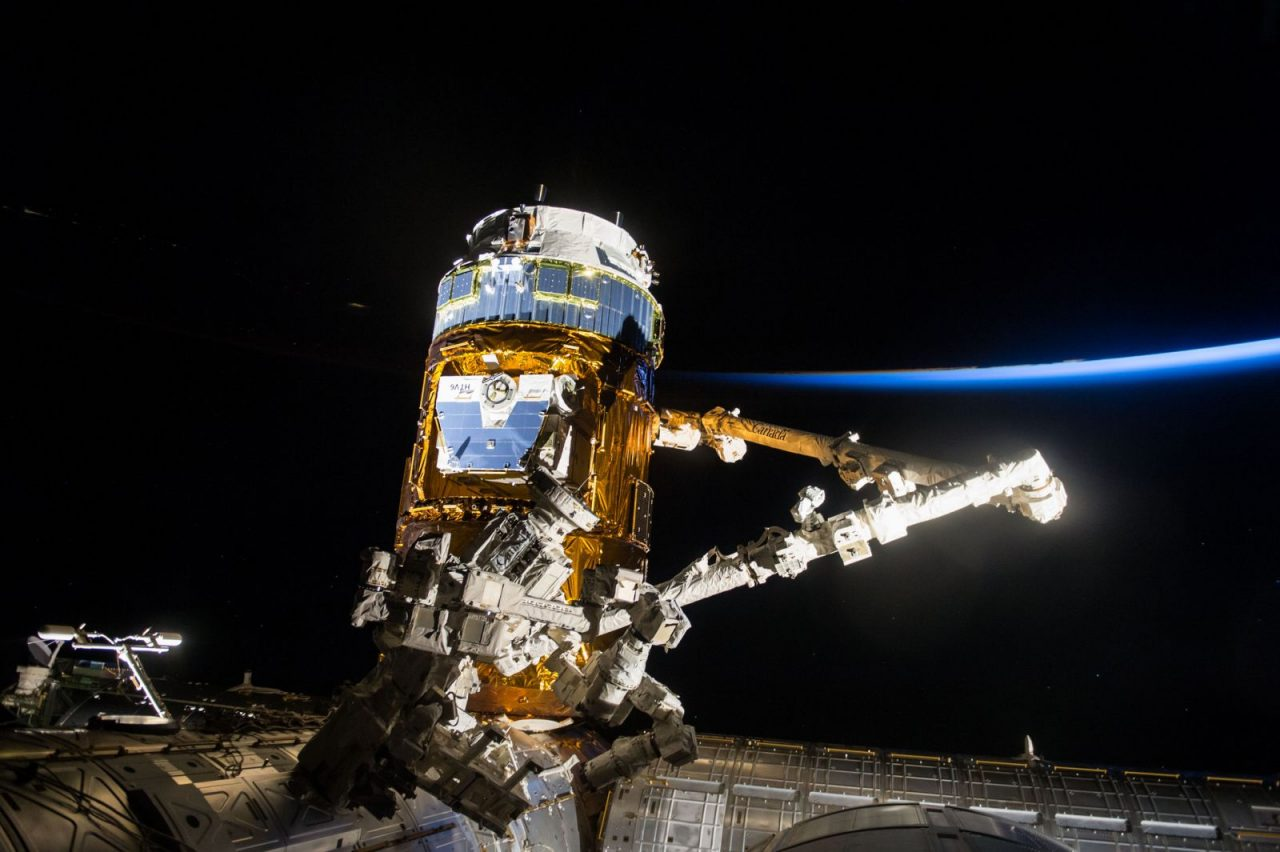 Kounotori 6 before being unberthed from teh International Space Station. Photo Credit: NASA