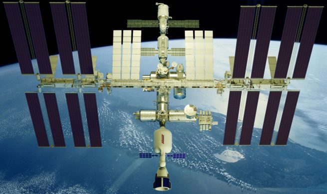 An artist's rendering of Bigelow Aerospace's XBASE module attached to the front of the International Space Station. This stand-alone space station module could be sent to the outpost as early as 2020. Image Credit: Bigelow Aerospace