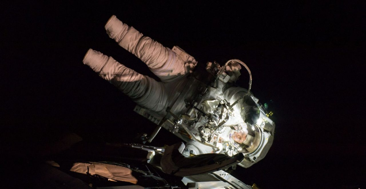 Peggy Whitson during her eighth spacewalk in March 2017. Photo Credit: NASA Read more at http://www.spaceflightinsider.com/missions/iss/astronauts-complete-200th-iss-spacewalk/#crYLIXvFx4LP7qGQ.99