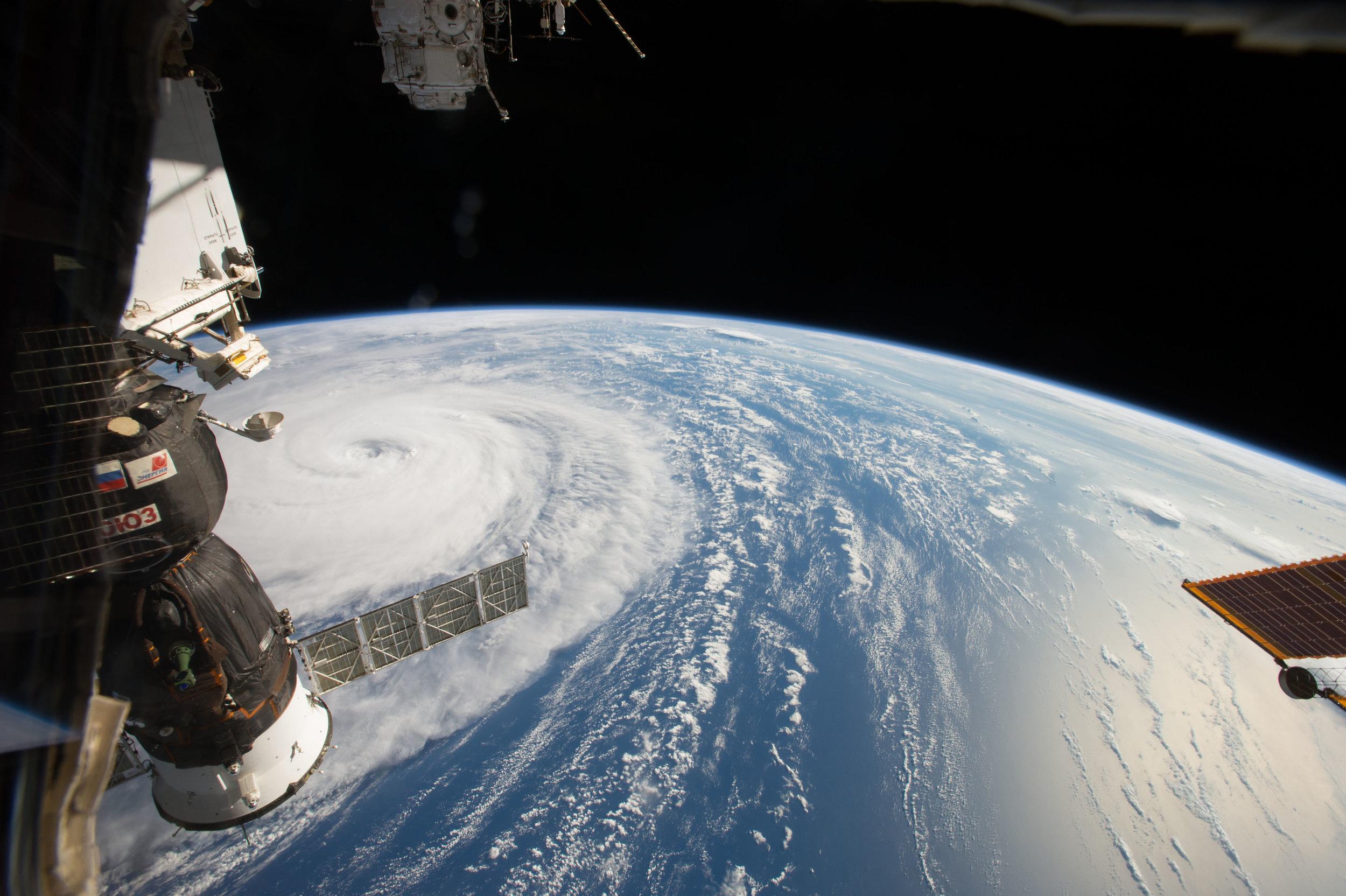 Super Typhoon Noru as seen from the International Space Station Aug. 1, 2017. Photo Credit: Randy Bresnik / NASA