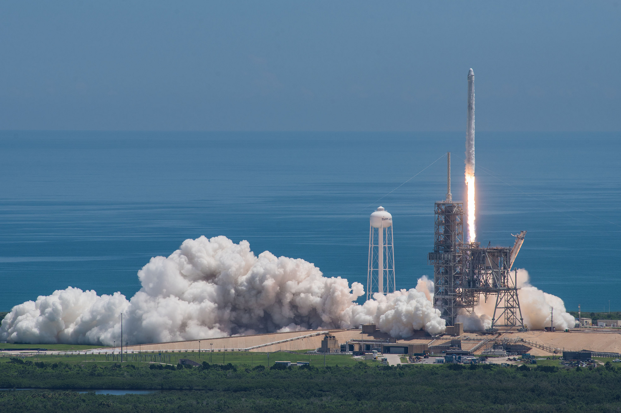 SpaceX launches a Falcon 9 with the CRS-12 Dragon capsule on top. Photo Credit: SpaceX