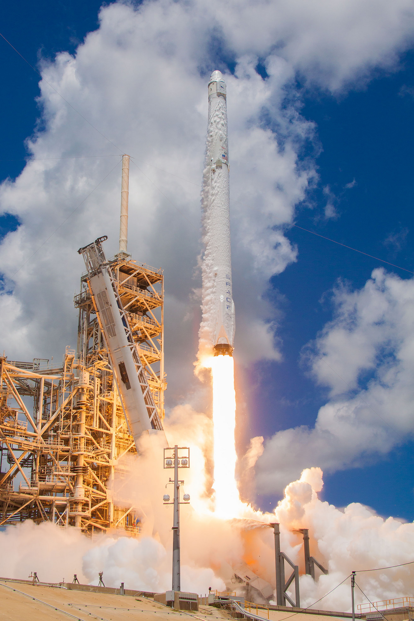 A Falcon 9 sends the CRS-12 mission toward the International Space Station. The Aug. 14, 2017, launch was the last new first-generation Dragon capsule. Photo Credit: SpaceX