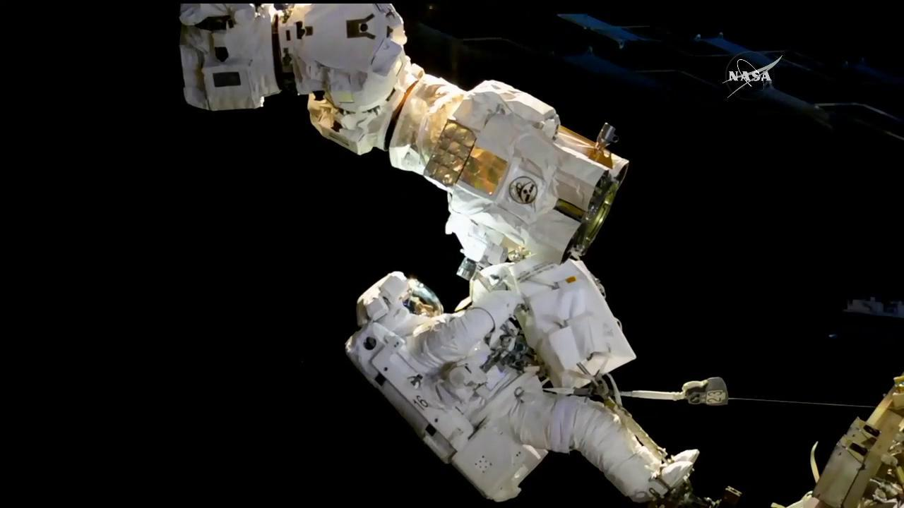 NASA astronaut Joe Acaba working on the robotic Canadarm2 on Oct. 20, 2017. Credit: NASA