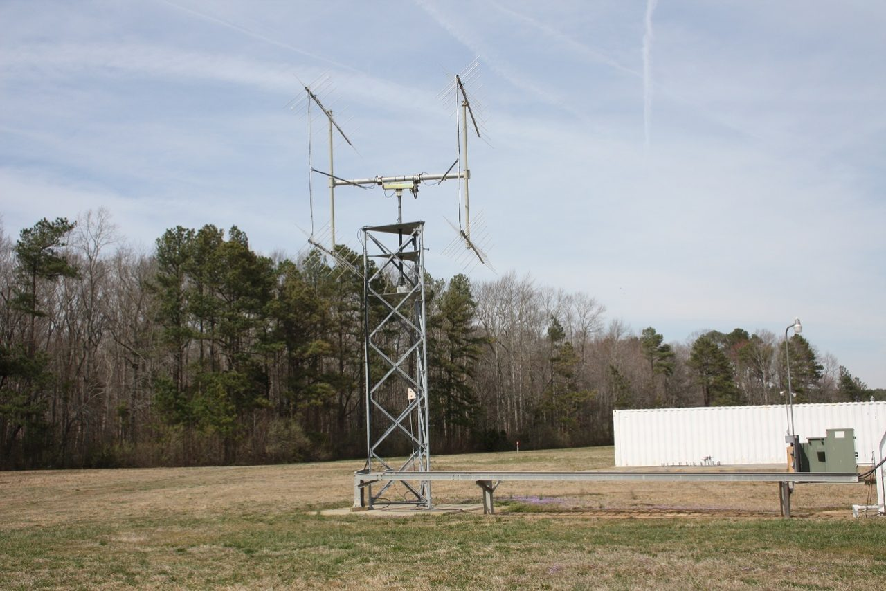 A VHF antenna at NASA's Wallops Flight FAcility in Virginia used to communicate with the ISS. Credit: NASA