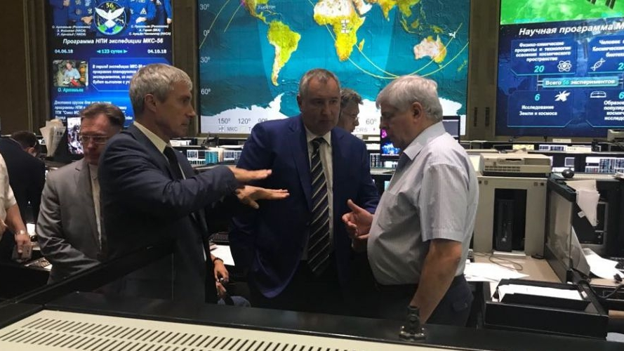 Moscow ground controllers discussing the leak