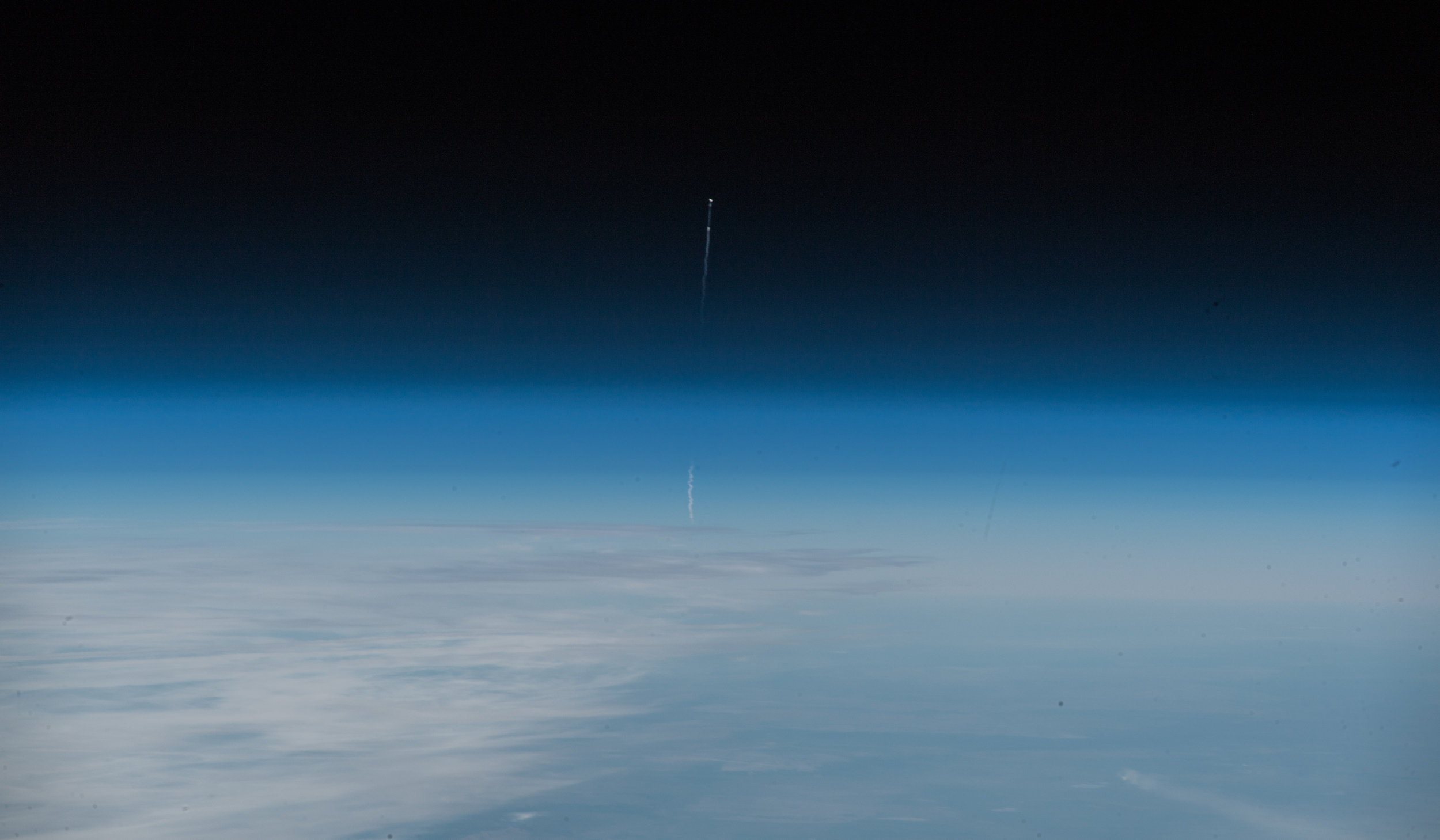 The Soyuz MS-10 launch failure as seen from the International Space Station. Credit: ESA/Alexander Gerst